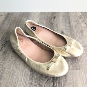 Le Chateau Moda Reflex Leather in Gold Flats Shoes
